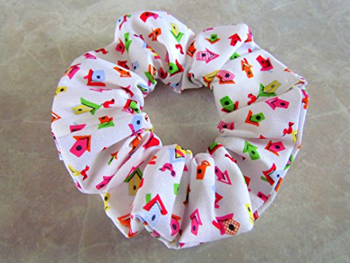 Home Tweet Home Hair Scrunchie 100% Cotton