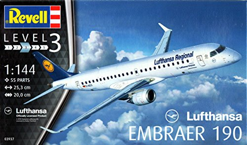 """Revell of Germany Embracer 190"""" Lufthansa Model and Kits"""