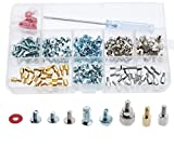 CO RODE Computer Screws, 220pcs PC Screw Standoffs Spacer Set Assortment Kit for Hard Drive Computer Case Motherboard Fan Power Graphics with Extra Screwdriver