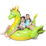 JOYIN Inflatable Storybook Dragon Pool Float,...