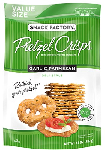 Snack Factory Pretzel Crisps, Garlic Parmesan, 14 - Pretzel Garlic