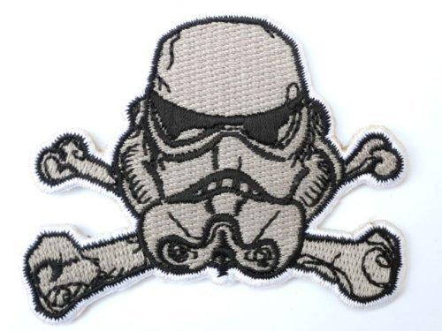 STAR WARS Storm Trooper Helmet Cross X Bones Iron On Sew On Patch 3
