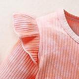 ZOEREA 3Pcs Baby Girl Clothes Tie Dye Infant Ruffle