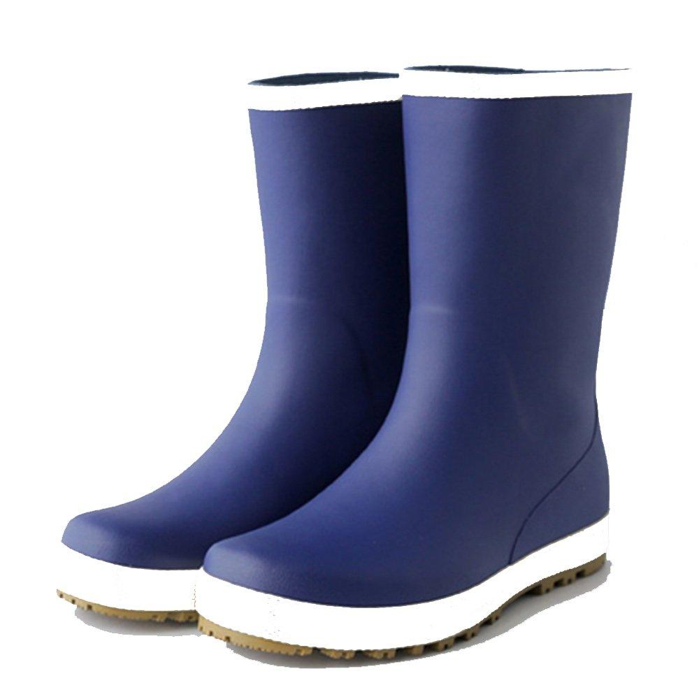 NAN Regen Stiefel Wasser Schuhe Regen Stiefel Wasserdicht Rutschfeste Gummi Schuhe Frühling Sommer Herbst Schuhe Überschuhe Warm Angeln Schuhe Mode (Farbe   Blau, größe   EU43 UK9 CN44)