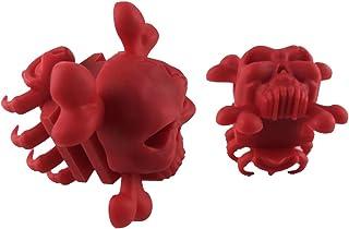 B Baosity Kit de 2 Amortisseur en Caoutchouc de Crâne de Réduction Supérieure des Vibrations et Bruit pour Archets Composés à Membres Divisés
