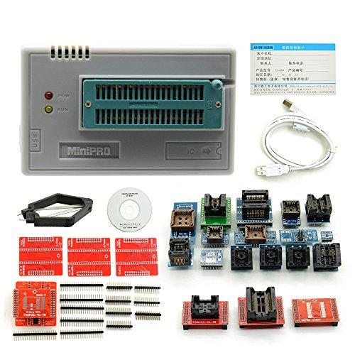 No Zif Socket (TL866CS,Mastertool TL866CS Programmer with 21 Adapters High Performance Universal USB Minipro Tl866cs)