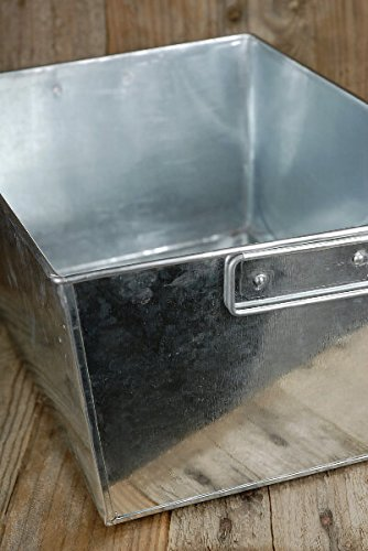 Galvanized Rectangle Tub with 2 Handles 14x10 with (Hot Tub Liners)