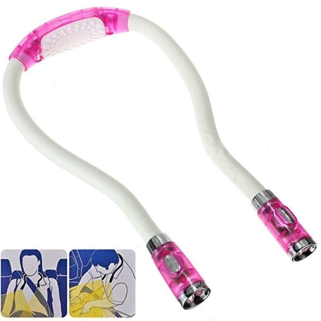 Yujum Portable Type U Neck Hanging LED pliable Livre cou lecture de lecture flexible en plastique Signet lampe,Noir,26 1.5cm 1.5