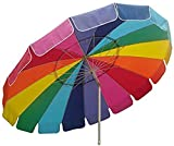 Beach Umbrella Rainbow Includes Carry Bag - 8 Foot Rainbow Color with S