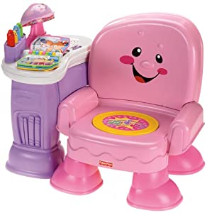 Fisher price laugh learn musical learning chair pink for Sedia a dondolo fisher price