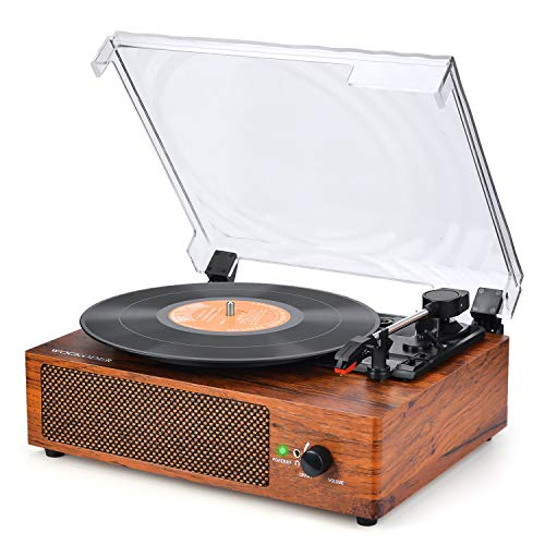 Record Player Turntable Vinyl Record Player with Speakers Turntables for Vinyl Records 3 Speed Belt Driven Vintage Record Player Vinyl Player Music Vinyl Turntable