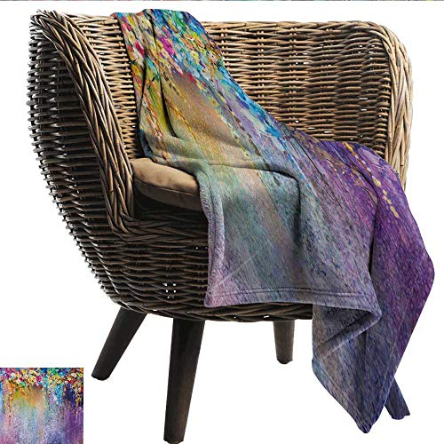 Davishouse Flower Super Soft Blankets Abstract Herbs Weeds Alternative Medicine Blossoms Ivy Back Florets Shrubs Design Sofa Chair 30