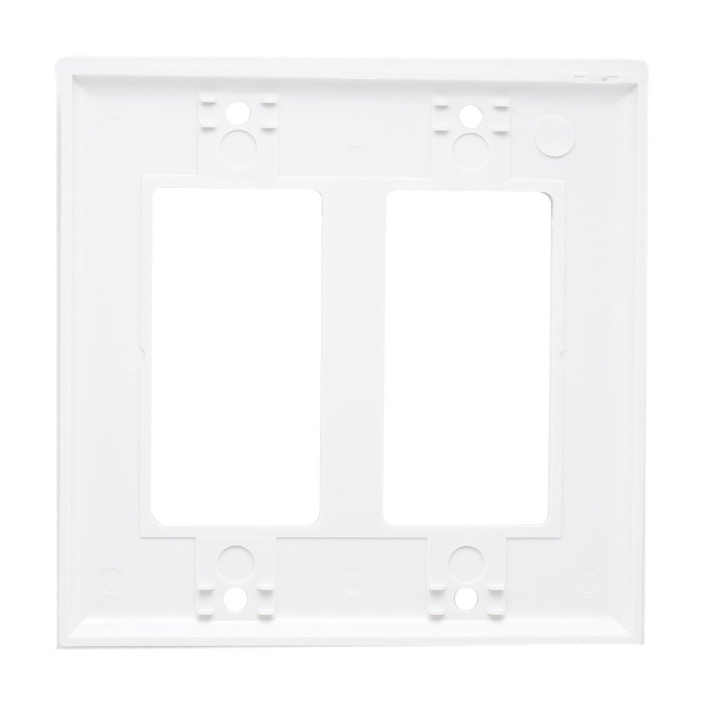 AllSmartLife unknown 2-Gang Decora Wall Plate White(2-Pack) 2 Gfci Standard Size, Thermoset, Device Mount (2)