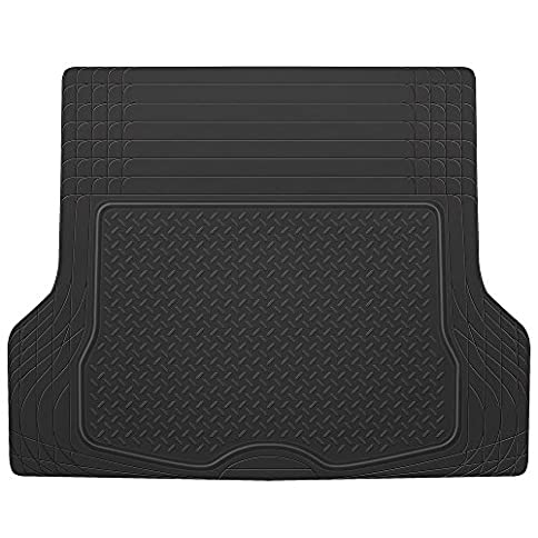 BDK HeavyDuty Rubber Cargo Floor Mat - All Weather Trunk Protection Trimmable to Fit & Durable HD Rubber - 51TSLktWU8L - BDK HeavyDuty Rubber Cargo Floor Mat – All Weather Trunk Protection Trimmable to Fit & Durable HD Rubber