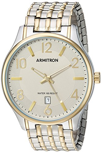 Armitron Men's 20/5221GYTT Date Function Dial Two-Tone Expansion Band Watch