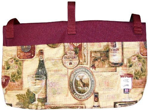 Handi Pockets 2c4wn Storage Accessory Walker, Tapestry, Wine by Handi Pockets