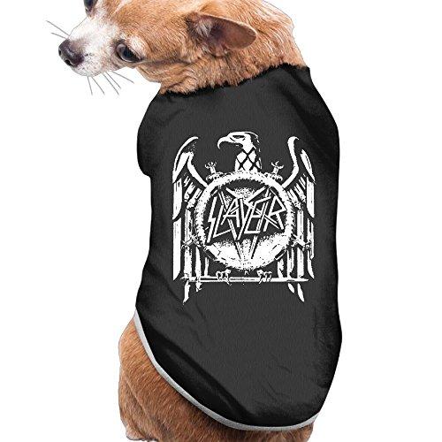 MaryMShea Dog&Cat Tshirt Slayer Band Light And Breathable Pet Clothing L -