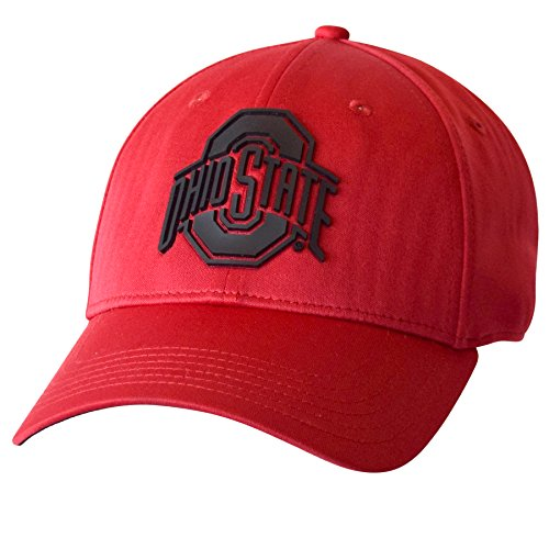 (J America NCAA Ohio State Buckeyes Men's Guard The Yd Structured Flex Cap, Medium/Large, Red/Black )