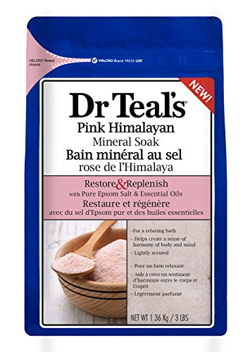 Dr Teal's Restore & Replenish Pure Epsom Salt & Essential Oils Pink Himalayan Mineral Soak 48 oz