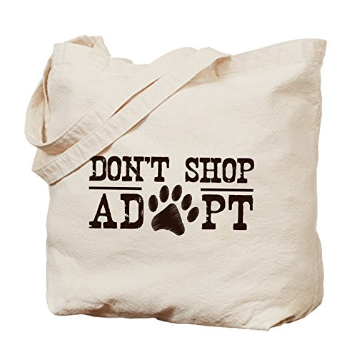 CafePress Unique Design Don't Shop Adopt Tote Bag - Standard Multi-color by CafePress