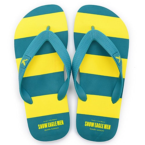 Zapatos Sandalias QIDI Verano T4 Tamaño Plástico Color Fondo Sandalias 5 UK6 Zapatillas Plano Hombres De Colorblock De T2 EU39 Playa Temporada Rayas dq4Pxrq1