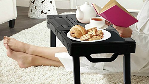 DG Sports Multi-Functional Laptop Table Stand with Internal Cooling Fan and Built-In LED Light, Black by DG SPORTS (Image #3)
