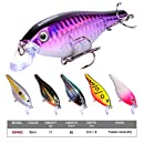 Proberos Crankbaits Set Lure Fishing Hard Baits Swimbaits Boat Ocean Topwater Lures Kit Fishing Tackle Hard Baits Set For Trout Bass Perch Fishing Lures Set (402)