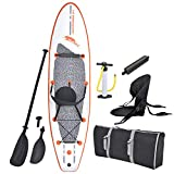 Blue Wave Sports Stingray Inflatable Stand Up Paddleboard with Paddle and Hand Pump