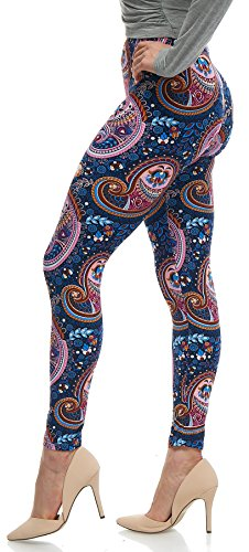 Lush Moda Extra Soft Leggings with Designs- Variety of Prints - Paisley 25F