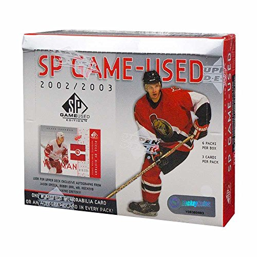 2002-03 Upper Deck SP Game Used Hockey Hobby Box