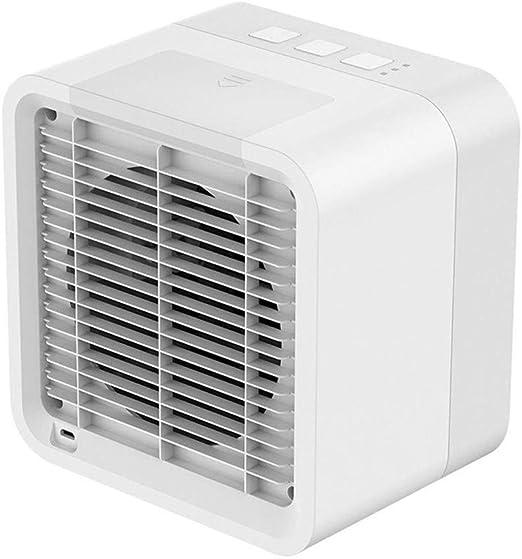 Maxpex Portátil Mini Aire Acondicionado Refrigerador de Aire Anión de Carbono Activado Humidificador Purificador Aromaterapia: Amazon.es: Hogar