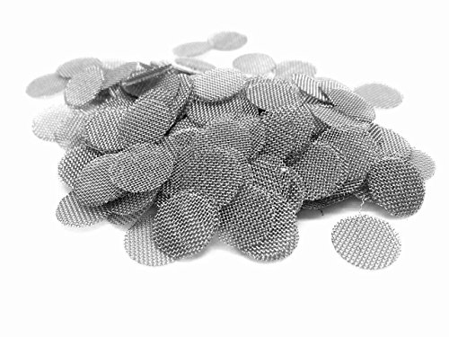 50Ct. Type 304 Stainless Steel Pipe Screen Filters (3/8 Inch) Premium Quality for an Assortment of Accessories & Kits (Replacement Tobacco Screens)