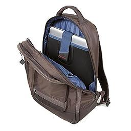 Hedgren Zeppelin Helium Backpack Sepia/brown - Padded Laptop Bag - Very Durable Backpack - Padded Shoulder Straps for Comfortability - Best College Backpack