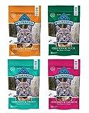 Blue Buffalo Wilderness Soft-Moist Grain-Free Cat Treats Variety Pack - 4 Flavors (Chicken & Duck,...