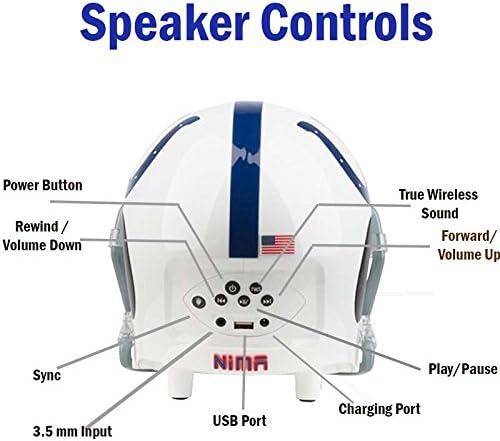 Medium Indianapolis Colts Nima Athletics Portable Bluetooth Speaker Helmet High Definition Audio with Long Lasting Battery