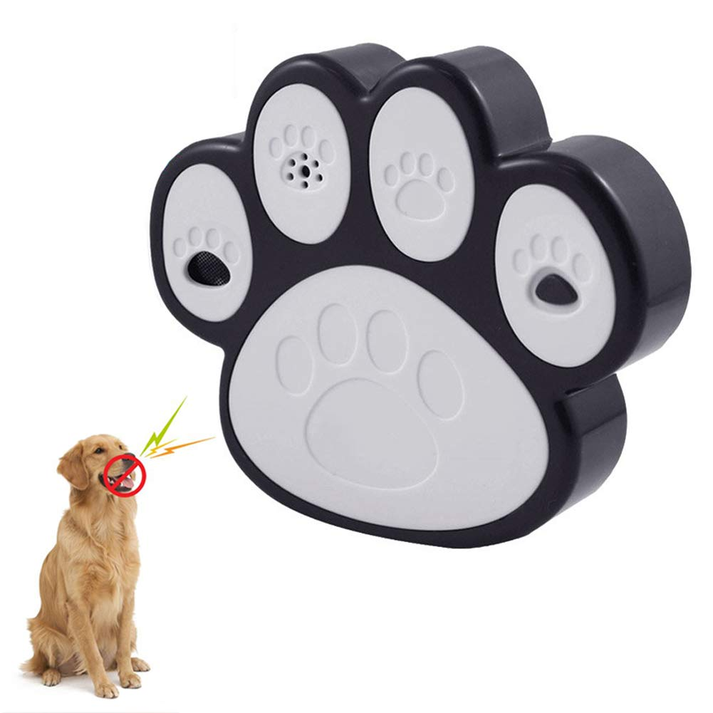 Dog Bark Control Devices Outdoor Paw Design Bark Deterrent Detects Barking