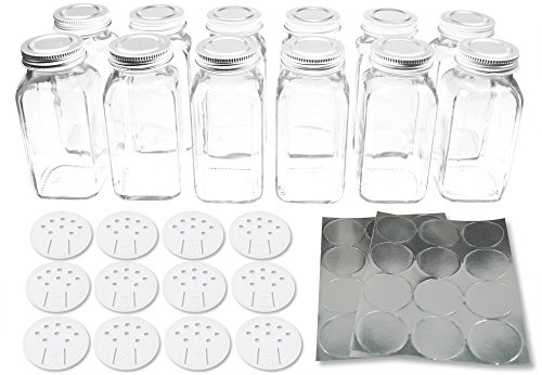 Deluxe Square Bottles Silver SpiceLuxe