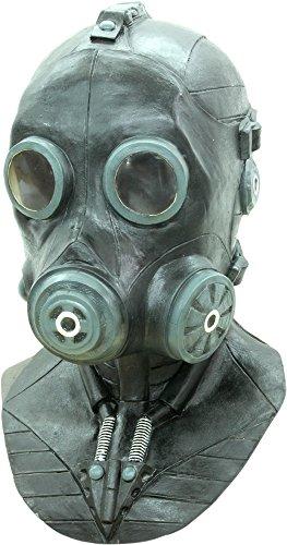 [Deluxe Smoke Gas Halloween Mask] (Deluxe Smoke Mask)