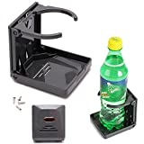 Black Folding Drink Cup Can Bottle Holder Stand
