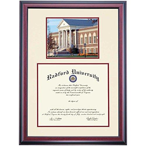 Radford Highlanders Diploma Frame Ivory Maroon Matting - Radford University Diploma Frame