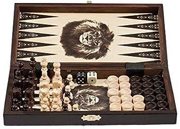 Aquamarine Games Compudid FD100616 Jeu d/'/échecs de Dames et de Backgammon dans Une Mallette
