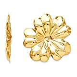 14k Polished Floral Earring Jackets