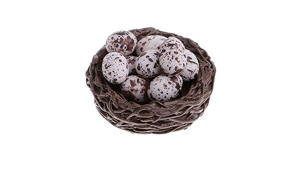 Dollhouse miniature 1:12 Quail eggs in a basket