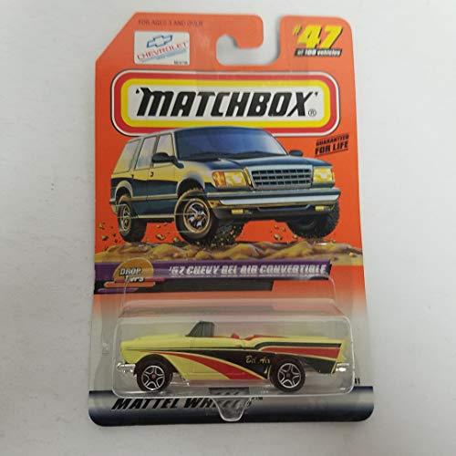 - '57 Chevy Bel Air Convertible 1999 Matchbox 1/64 Scale diecast car No. 47 Drop Tops