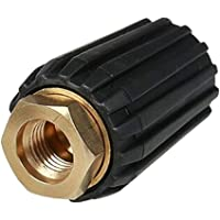 Prettyia Heavy Duty High Pressure Washer Nozzle Tips 2 in 1 Changeover Quick Connect - 1.2mm -8.0X 2.8cm