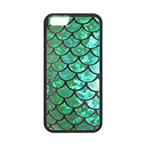 Custom Mermaid Scales Fantastic Durable Protector Plastic Snap On Cover Iphone 5/5S