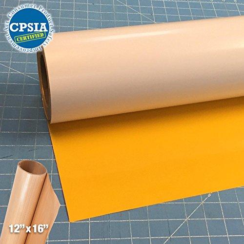 Siser Easyweed Yellow Heat Transfer Craft Vinyl Roll (150ft x 15'' Bulk w/ Teflon roll) by Siser