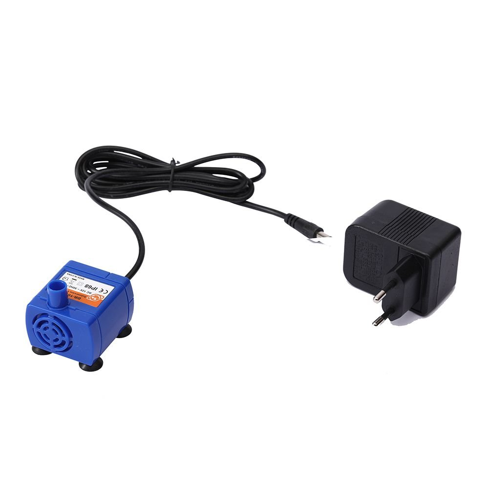 Ofanyia Cat Fountain Pump + Power Adpter, Submersible Water Pump for Pet Fountain, Replacement Pump for Pet Fountain Suit for Most of Cat Fountain 1.6 L 2.0 L 2.5L