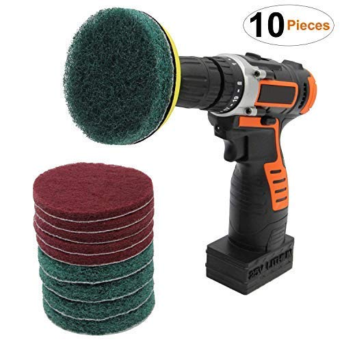 Scouring Pad Brush Electric Drill Clean Kitchen Floor Hard: Amazon.com : QUIENKITCH 10 Piece Drill Brush Attachments