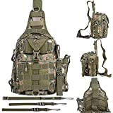 BLISSWILL Fishing Backpack Outdoor Tackle Bag Multifunctional Water-Resistant...